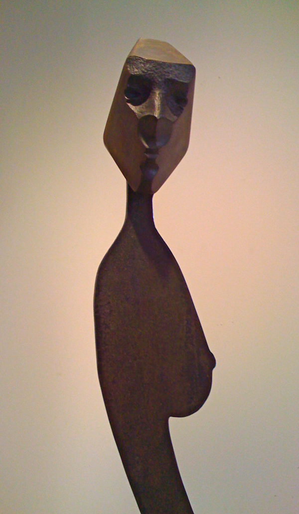 17inch w x 72inch h Steel and Bronze  © Art Spellings 2011