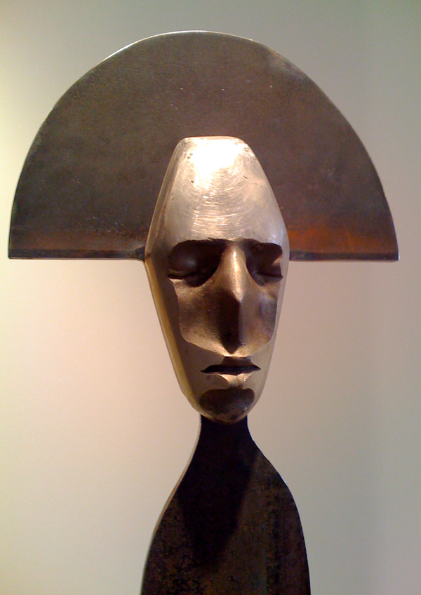 20inch w x 84inch h Steel, Stainless Steel, and Wood  © Art Spellings 2011